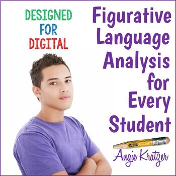 Figurative Language Analysis Mini Unit {Secondary}