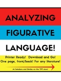 Figurative Language Analysis Worksheet