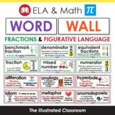 ELA & Math Word Wall Cards