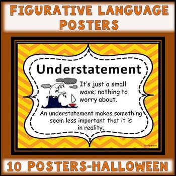Figurative Language Anchor Charts Posters Halloween Theme