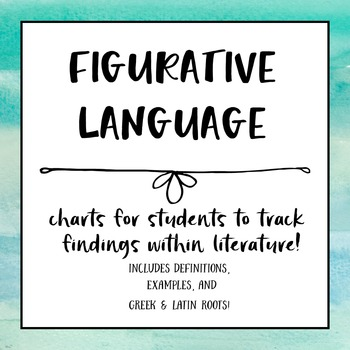 Figurative Language Anchor Charts for Students
