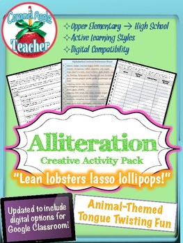 Figurative Language: Animal Alliteration Activity {Middle Grades}