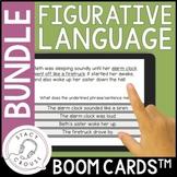 Figurative Language BUNDLE: Hyperboles, Metaphors, Similes and Idiom BOOM CARDS™