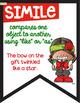 Figurative Language Banners Christmas Theme ~Color and Black & White~ Combo