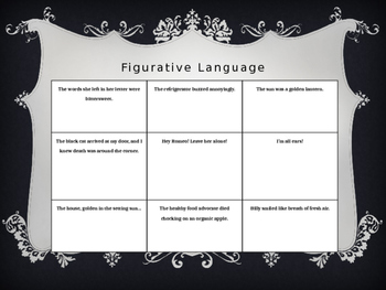Figurative Language Bingo!