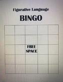 Figurative Language Bingo - Blank Card