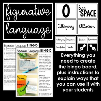 Figurative Language Bingo Board