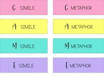 Figurative Language Review Bingo Game