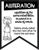 Figurative Language Black and White Banners Cute Kids Theme ~Easy Printing~