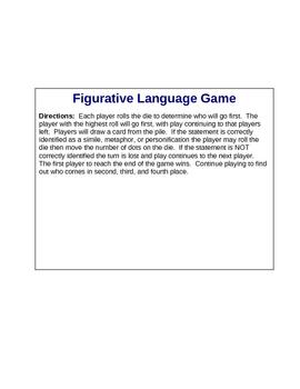 Figurative Language Board Game