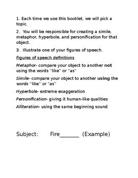 Figurative Language Booklet- Simple and Effective