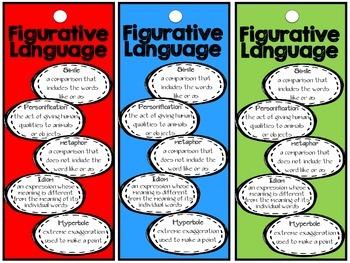 Figurative Language Bookmark FREEBIE