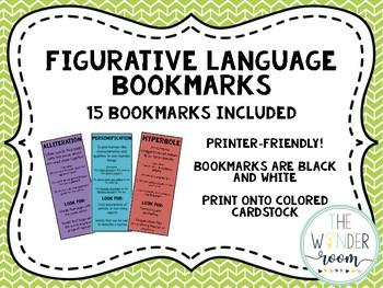 Figurative Language Bookmarks