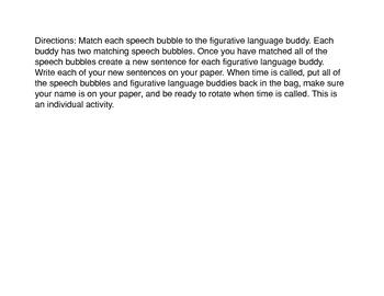 Figurative Language Buddies