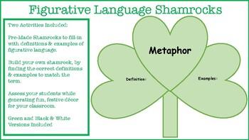 Figurative Language: Build Your Own Shamrock