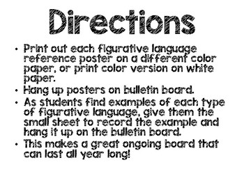 Figurative Language Bulletin Board
