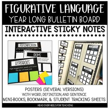 Figurative Language Bulletin Board Set {Interactive}