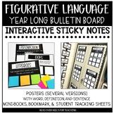 Figurative Language Bulletin Board Set Using Sticky Notes