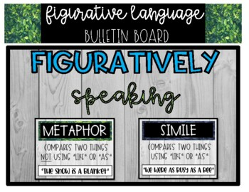 Figurative Language Bulletin Board and Posters
