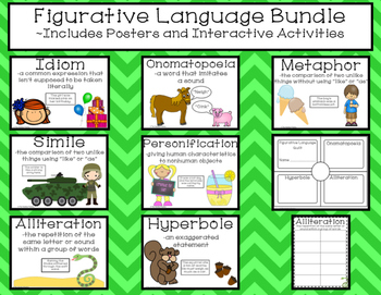 Figurative Language Bundle- Posters and Interactive Booklets