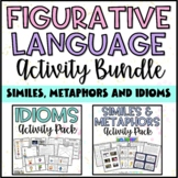 Similes, Metaphors, and Idioms Figurative Language Bundle