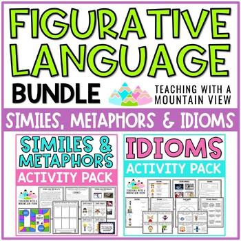 Similes, Metaphors, and Idioms Figurative Language Bundle