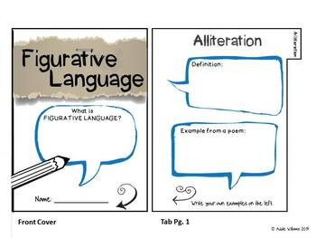 Figurative Language Activities - Task Cards, Flip Book and More!
