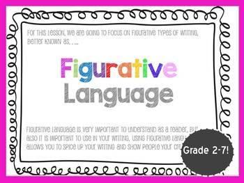 Figurative Language Power Point Bundle (Fun and Colorful PLUS 8 worksheets)