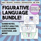 Figurative Language Bundle: Guided Notes, Poetry Analysis,