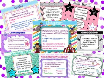 Figurative Language Bundle: PowerPoint, Sorting Cards, Worksheets, & More
