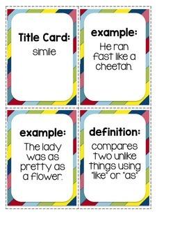 Figurative Language CARD GAMES