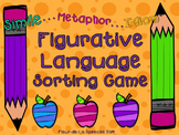 Figurative Language Sorting Game & Worksheets (Similies...