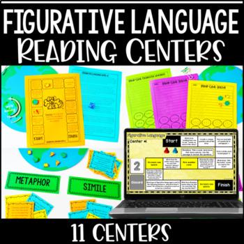 Figurative Language Centers   Reading Games