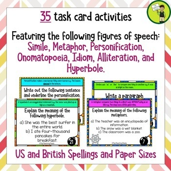 Figurative Language Challenge Task Cards COMBO (US and NZ)