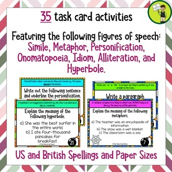 Figurative Language Challenge Task Cards (US and NZ)
