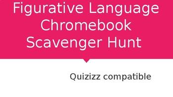 Figurative Language Chromebook Scavenger Hunt: Quizizz Compatible