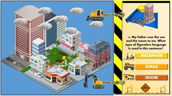 Figurative Language City Builder Review Game