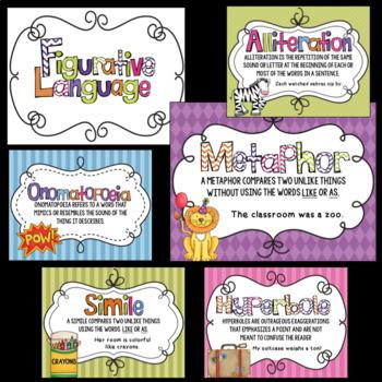 Figurative Language Classroom Posters
