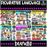 Figurative Language Clip Art Bundle {Educlips Clipart}