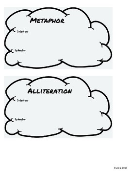 Figurative Language Clouds for Notebook (2nd design)