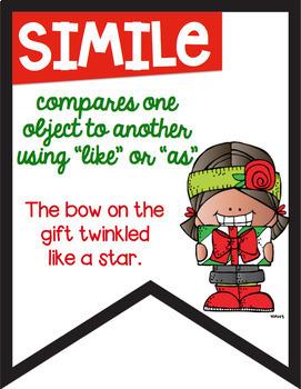 Figurative Language Color Banners Christmas Theme