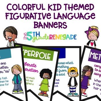 Figurative Language Color Banners Cute Kid Theme