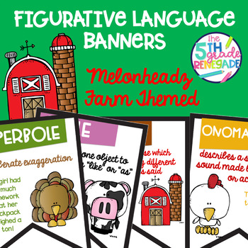 Figurative Language Color Banners Farm Theme