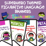 Figurative Language Color Banners Superhero Theme