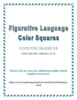 Figurative Language Color Squares