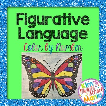 Figurative Language Color by Number 2-Butterfly