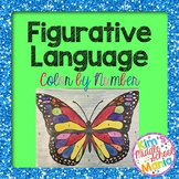 Figurative Language Color by Number Butterfly End of the Y
