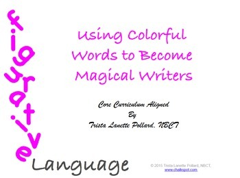 Figurative Language Power Point Unit: Colorful Words, Magical Writers