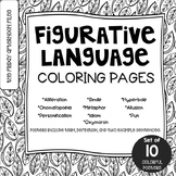 Figurative Language Coloring Pages or Mini Posters
