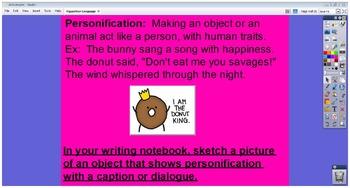 Figurative Language Common Core Objective 5th Grade Flip chart